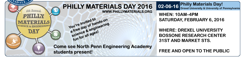 North Penn Students to Present at Philly Materials Day 2016!